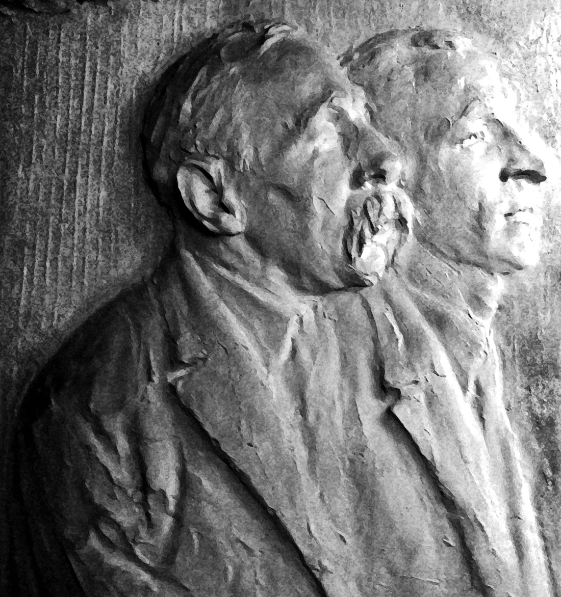 Bas Relief, Sacco and Vanzetti by Gutzon Borglum