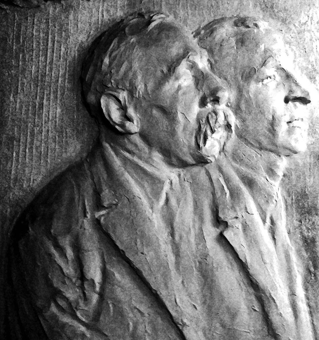 Bas Relief, Sacco and Vanzetti by Gutzon Borglum