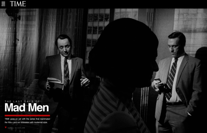 On the Set of Mad Men from Time Magazine