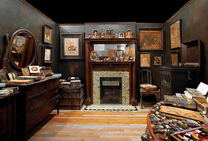 Henry Darger's room, from the permanent collection, The Intuit Gallery