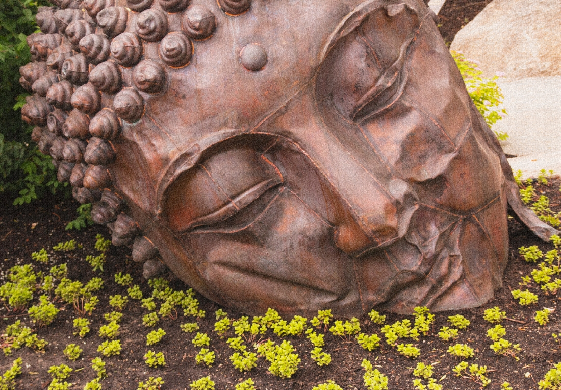 Sleeping Buddah.  The Japanese Gardens at Meijer Gardens.  Grand Rapids, MI.  Shot with a Canon 70D.