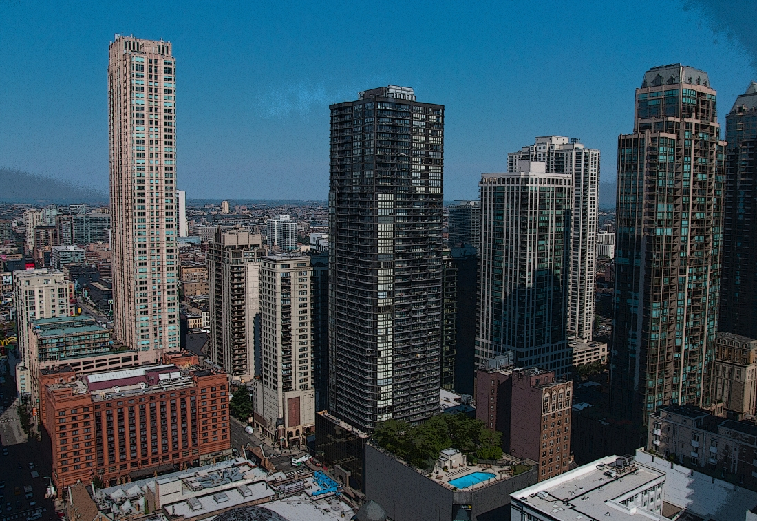Cityside View from the 38th Floor. Shot with a Canon 70D.