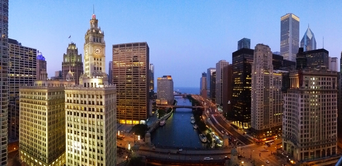 Chicago Pano at Twilight. Shot with a Samsung Galaxy S5