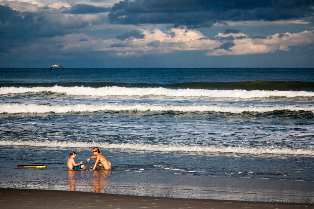Early Morning Play. Cocoa Beach Florida. Shot with a Canon 70D.