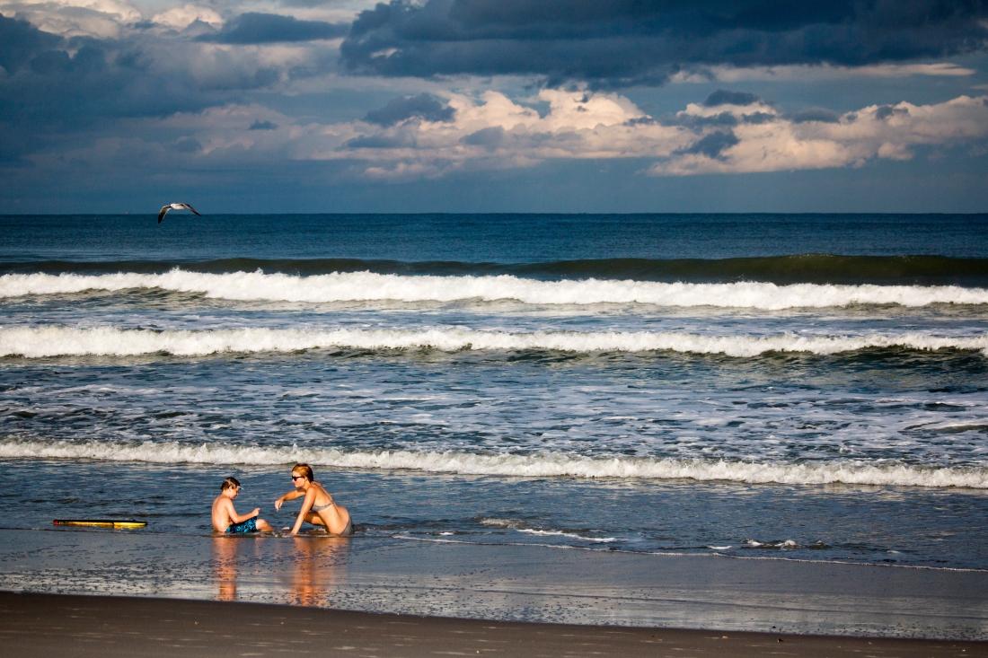 Early Morning Play. Cocoa Beach Florida. Shot with a Canon 70D.