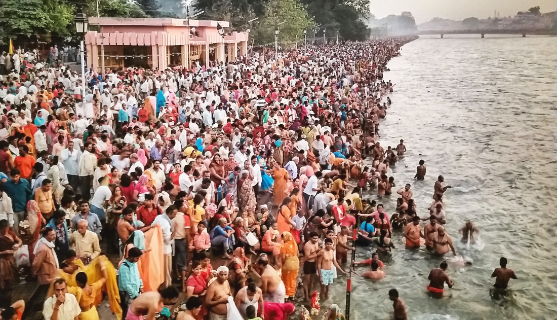 Gathering at the Ganges River. From the Grand Rapids Art Museum. Shot with a Samsung Galaxy S5.