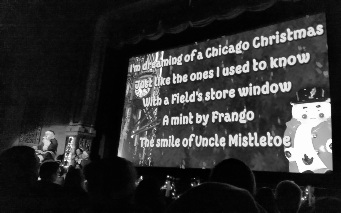 Christmas Sing Along at the Music Box Theater, Chicago, IL. Shot with a Canon 70D.