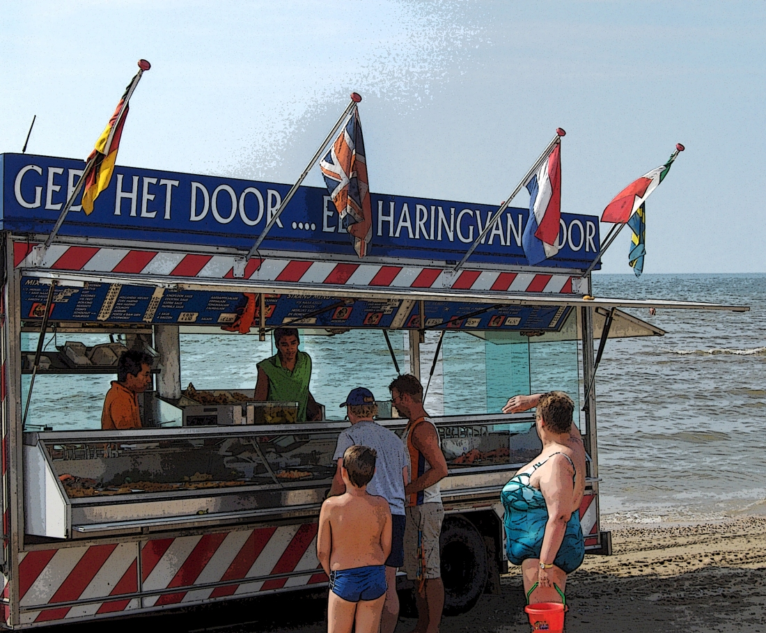 Herring Truck at Zandvoort Beach, The Netherlands