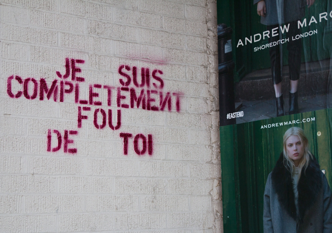 Je Suis Completement Fou De Toi. On the Street in Chicago.