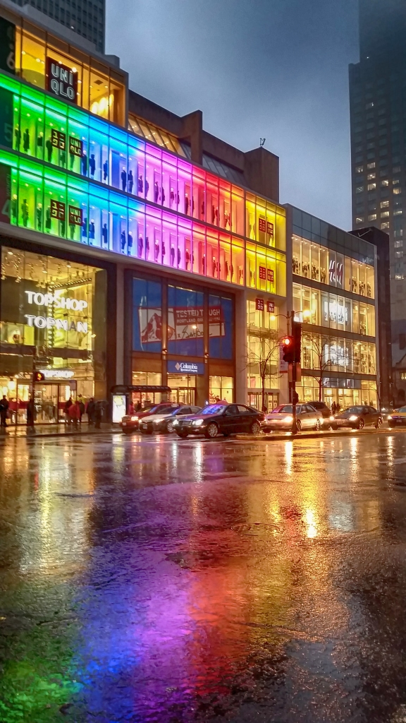 A Rainy Night on Michigan Avenue, Chicago, IL
