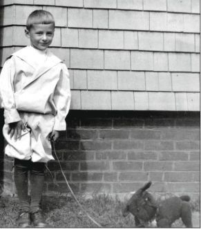 Dr. Seuss (Ted Geisel) and one of his dogs. Source: Pinterest