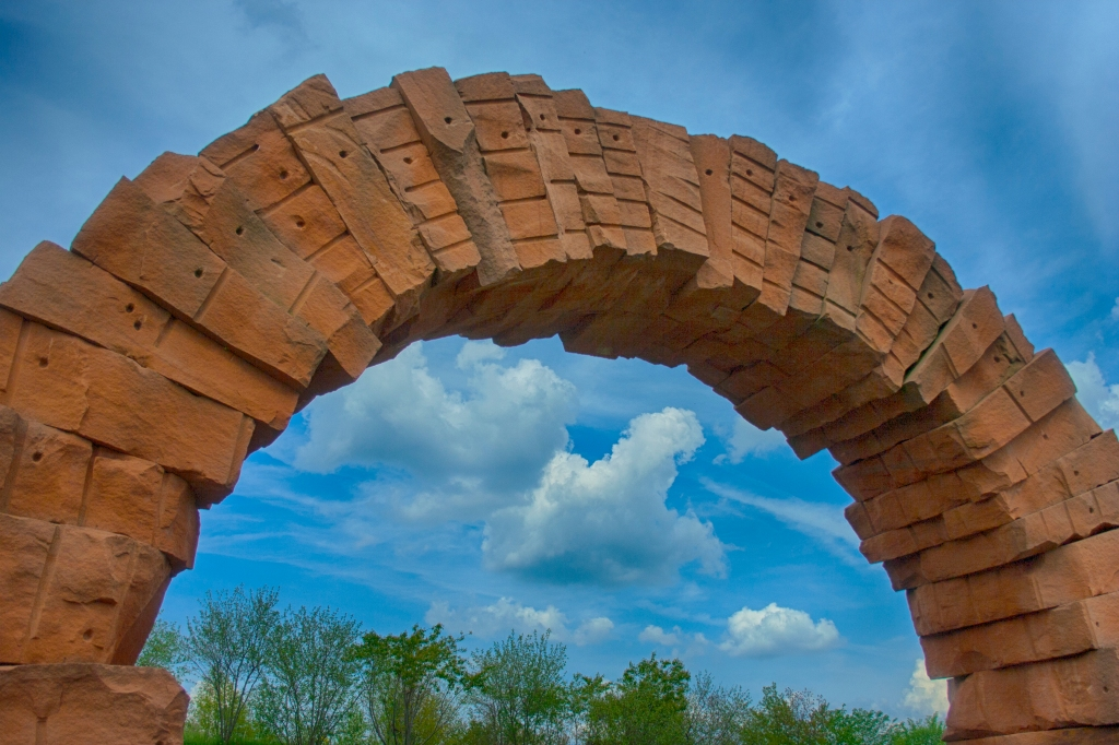 Meijer Gardens, Sky and Arch. Shot with a Canon 40D