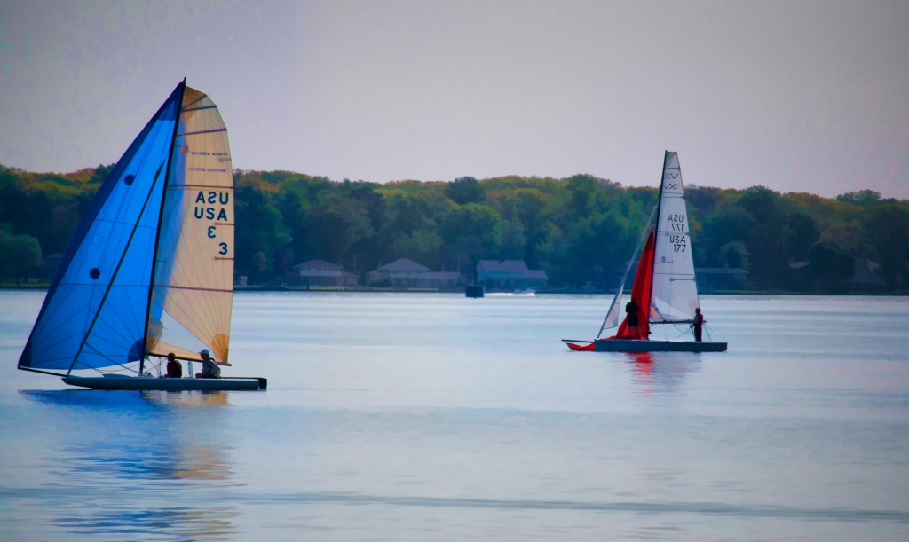 Early Morning Sail, Holland, Michigan. Shot with a Canon 70D.
