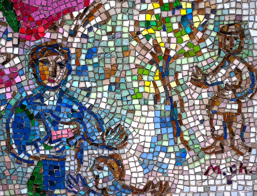 All edges. Marc Chagall Mosaic. Chicago, Illinois. Shot with a 40D.