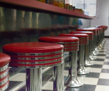 Soda Shop Reflections. Saugatuck, MI. Shot with a Canon 70D.
